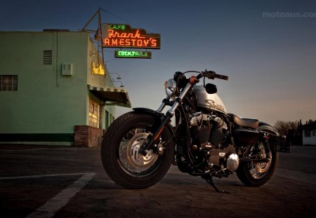 Sunset Ride - Harley Davidson, cutom, motorbike, bike, motorcycle