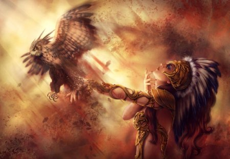 Are Native american women fantasy art