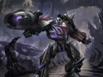 Megatron in Transformers war for cybertron