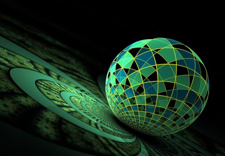 Fractal - ball, Fractal, Abstract, Disco, CG