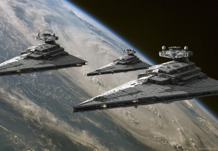 Imperial Star Destroyers - destroyer, imperial, star, star wars
