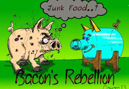 junk food - camara, junk, food, bacon, jrc, rebellion