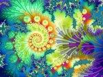 Fleur de fractal, by annamarie57