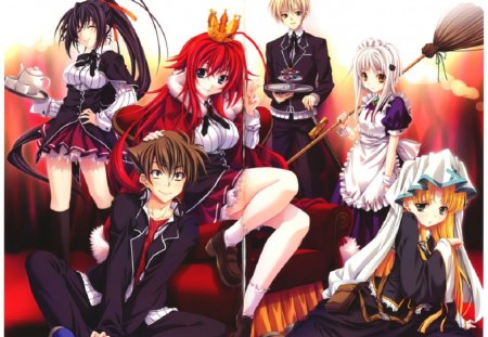 High School DxD - Asia, Hyoudou, light novel, student, Rias, anime, Himejima, love, long hair, pink, Issei, Argento, manga, pervert, sexy, High School DxD, Gremory, school, sngel, Akeno, devil, god