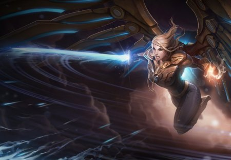 League of Legends - Aether Wing Kayle - Legends, of, lol, wing, metal, LOL, League, legend, LoL, sword, Of, league, wings, angel, Legend, kayle, -, aether, laser