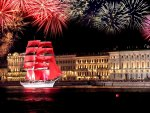 Fireworks and Ship