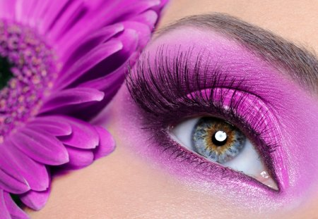 Eyeshadow - pretty, eyeshadow, eye, beautiful, woman, make-up, nice, eyelash, flowers, beauty, face, blue, cosmetics, female, lovely, girl, mascara, eyebrow, lady