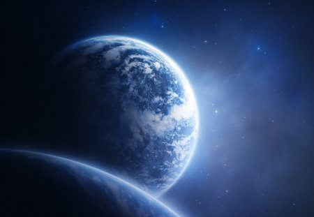 Beautiful Planet - fantasy planet, blue planet, earth, Beautiful Planet