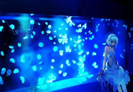 aquarium girl akira anime background wallpapers on desktop nexus image 1321248. Black Bedroom Furniture Sets. Home Design Ideas