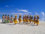 Dancers on Beach in Cook Islands