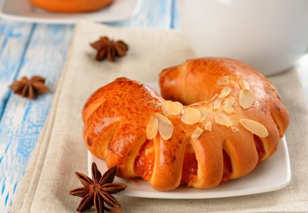 *** Danish with peach *** - sweets, food, fresh, danish, peach