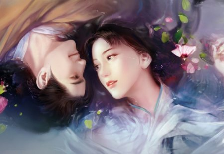 Spring Fantasy love - fantasy, love, couple, spring