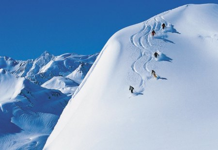 The slopes - sport, slopes, snow, skiing, winter
