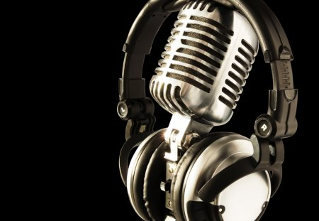 * - microphone, wp, bw, music, headphones, studio