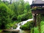 waterfalls under a wonderful balcony