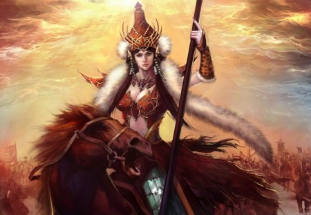 beautiful warrior princess fantasy amp abstract background