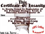 Certificate of Insanity Version 2
