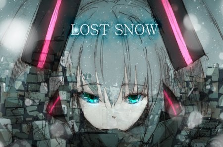 Lost Snow - Vocaloid, hatsune miku, music, anime girls, game, idol