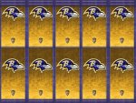 Baltimore Ravens Gold Logos v4