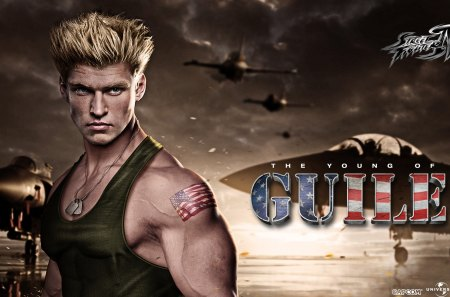 the young of GUIL3 - poster, games, Guile, street fighter, commandan, movie, airforce