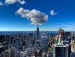 fabulous view of new york city hdr