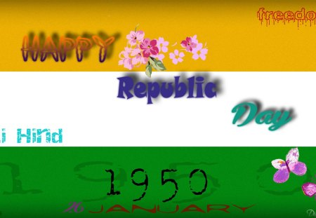 Happy Republic Day Textures Abstract Background Wallpapers On