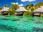 Tiki Huts on the Beach