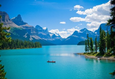 Blue lake - Blue, Nature, water, lake