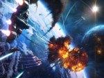 Earth space battle