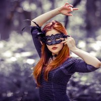 masked redhead