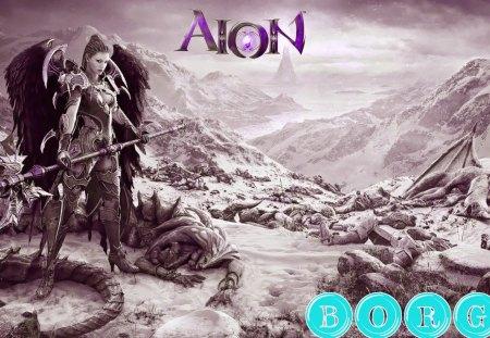 Fantasy Warrior Angel - aion, fantasy, games, angel