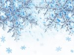 Shine of Blue Snowflakes