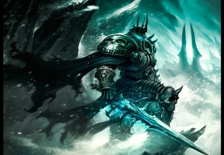 Epic Lich King World Of Warcraft Video Games Background