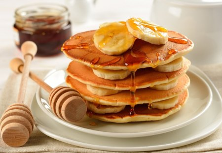 *** Pancakes *** - pancakes, food, fresh, bananas