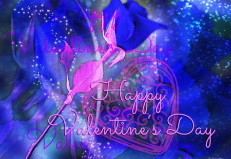 ღblue Valentine Rosesღ Collages Abstract