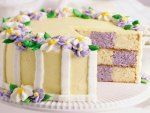 Delicious Purple Checkers Cake