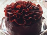 Chocolate Ruffles Topped Cake
