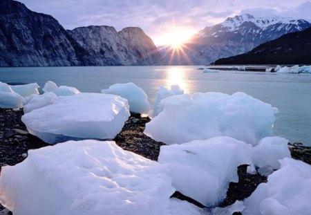 Ice Mountains Winter Mountains Nature Background