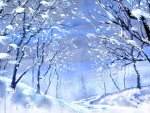 Watercolor Winter Wonderland