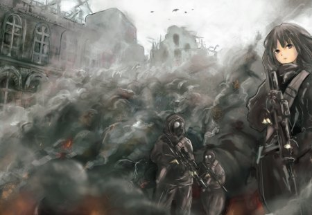 War situation other anime background wallpapers on - Anime war wallpaper ...