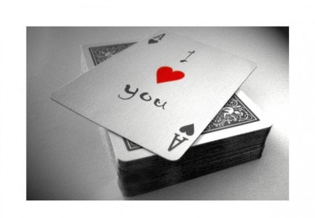 I love you! - love, 3d, deck, nice, ace, smart, i love you, cards, abstract, cute