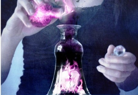 potion of love  - bottle, chemistry, pink, potion, love
