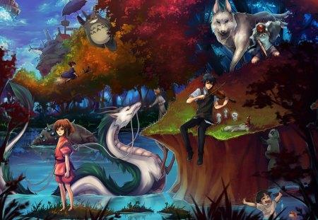 The Imagination Of Hayao Miyazaki Spirited Away Anime Background Wallpapers On Desktop Nexus Image 1341386