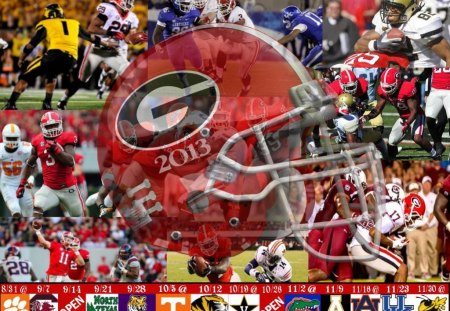 Georgia Bulldogs 2013 Football Schedule - Bulldogs, Football, Schedule, UGA