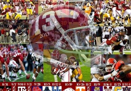 2013 Alabama Football Schedule - Helmet, Crimson Tide, Football, Schedule, Alabama