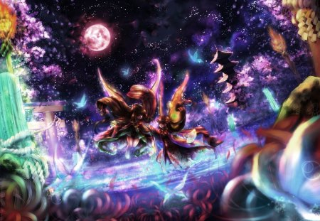 spring night other amp anime background wallpapers on