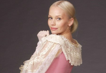Anastasia - dress, movie, music, blonde hair, anastasia, woman, singer, girl, actress, elena korikova, tv series, beauty, russian, pink, bednaia nastya
