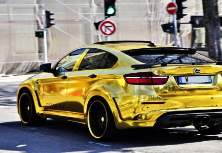 Bmw X6 M Hamann In Gold Bmw Cars Background Wallpapers On