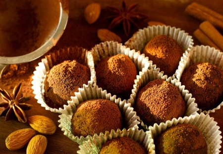 *** Truffles *** - chocolate, dessert, food, sweets, candy