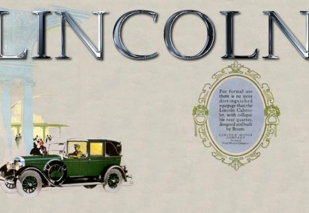 1926 Lincoln Brun Cabrolet Ad - 1926 Lincoln, automobile, cabrolet, Lincoln, vintage